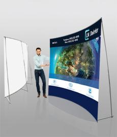 презентационный баннерный стенд magnumm kalibr 2550 вогнутый