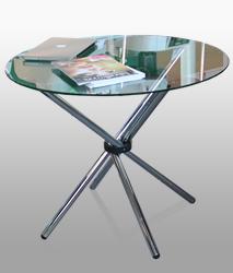 стол из стекла, стеклянный стол, стол для выставки, стол для переговорных, мобильный стол
