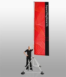 Мобильный флаг Expand Flag Stand XL (экспанд флаг стенд икс эль)