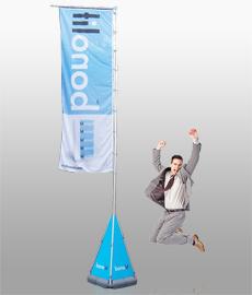 переносной мобильный выставочный флаг Magnumm Giant (магнум гиант)