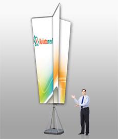 переносной мобильный выставочный флаг Magnumm Giant Trinity (магнум гиант тринити)